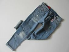 NWT Levi's 501 CT in Stacked Patch Selvedge Buttonfly Crop Boyfriend Jeans 28