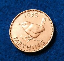 1939 Great Britain Farthing - Beautiful Coin - See PICS