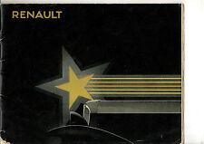Catalogue RENAULT gamme STELLA 1932 monastella primastella vivastella nervastell