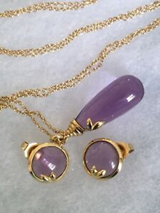 Authentic Tiffany & Co. Picasso Olive Leaf Amethyst Gold Pendant Necklace -RARE