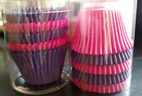 75 QUALITY Pink Purple 'BUFFIN' CASES large CUP CAKE/MUFFIN  Easybake 45 x 45mm