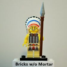 New Genuine LEGO Tribal Chief Minifig with Pike Series 3 8803