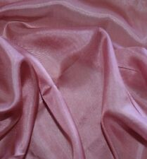Dusty Rose 100% silk 45 Inch Wide Light Weight Fabric By the Yard