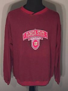 Florida State Seminoles FSU Embroidered Mens XL Red Sweatshirt Sweater Pullover