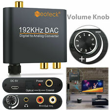DAC Digital Optical Toslink Coaxial to Analog Audio Converter Adapter L/R RCA US