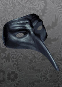 Halloween Black Plague Doctor Style Fancy Dress Masquerade Cosplay Mask