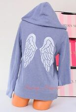 VICTORIA'S SECRET VS Angel Wings Sequins Bling Logo Zip-Up Hoodie Jacket S Small