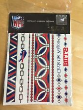 NFL Metallic Jewelry Tattoos by LuLu - Buffalo Bills - Factory Sealed