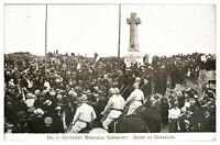 Antique military WW1 printed postcard Givenchy Memorial Ceremony Unveiling