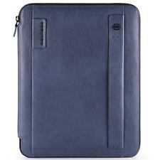 Portablocco Piquadro Sottile formato A4 P15s in Pelle Blu