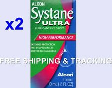 2X Systane Eye Drops Ultra Lubricant High Performance 10 ml Alcon EXP. 2020