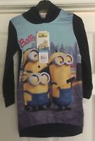 Girls minion blue hoodie hoody, long top, Bello, Dispicable Me NEW Age 3 6