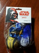 Petco Star Wars Pet Fans Collection C-3po And R2-d2 Character 3 Pack Cat Toy Set