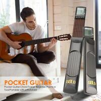 Portable Pocket Guitar 6 Strings Guitar Trainer with Chord Chart Screen Practice