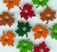 """MAPLE LEAF 1/8"""" QUICKLETS Eyelets Autumn Fall Scrapbooking Card Making Stamping"""