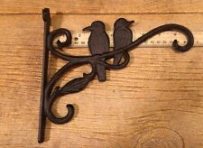 Cast Iron Bird House Hanger Two Birds on a Branch Garden Decor 0184-0673