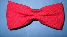 Vincci of London - 100% soie rouge noeud papillon rrp £ 20