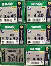 SPAX Madera Tornillo F / Csk 4 Corte Pozi 200 por Caja Trade Tallas Barato
