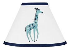 Giraffe Lamp Shade for Sweet Jojo Blue Grey White Mod Jungle Safari Bedding Set