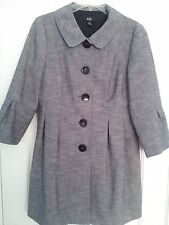 AGB WOMEN'S DRESS  JACKET GRAY FRONT BUTTON UP LINED SIZE 10