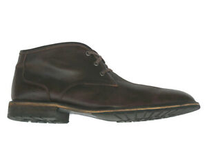 Andrew Marc Woodside Ankle Chukka Boots Shoes Brown Leather Mens 12