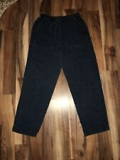 Lizwear by Liz Claiborne Size 4p Casual Drawstring Pants Cotton Blend Blue-Gray