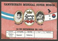 Luna Park Stadium Boxing World Cup Ticket USED Ballas vs Bae 1981
