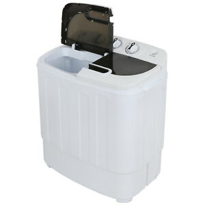 Compact Portable Washer & Dryer with Mini Washing Machine and Spin Dryer, White