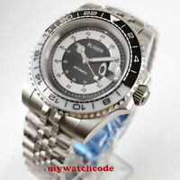 40mm BLIGER gray dial caremic automatic movement mens watch sapphire crystal