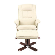 PU Leather Arm Lounge Chair Recliner Ottoman Office Glider Armchair Couch WH