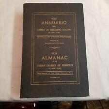 1936 Almanac of the Italian Chamber of Commerce in New York volume 12 trade