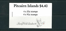 PITCAIRN ISLANDS 1990 SAILING SHIPS 'STAMP WORLD LONDON' 1990 BOOKLET VF MNH