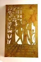 Antique Brass Ancient Egyptian Handmade Art Craft Pharaoh Figural Wall Decor