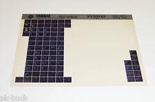 Microfich Ersatzteilkatalog Yamaha XV 500 ab 1983