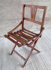 Vintage Child's Folding Wood Adirondack Chair (#3)