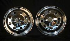 "Chevy Gmc c4500 c5500 c6500  Front Wheel simulators 19.5"" 8 lug bolt on stainles"
