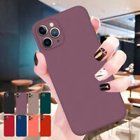 For iPhone 12 Pro Max 11 XS XR 8 7 6s SE2 Phone Case Soft Liquid Silicone Cover