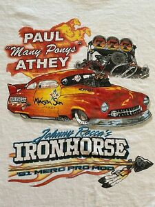 JOHNNY ROCCA IRON HORSE '51 MERC PRO MOD NHRA Short Sleeve Custom T-shirt