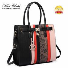 Ladies Designer PU Leather Handbag V-shape Shoulder Top Handle Tote Work Bag