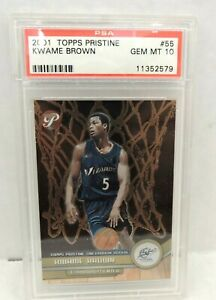Lot of (2) 2001 Topps Kwame Brown Rookie Cards - PSA Gem Mint 10
