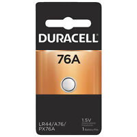 Duracell 76A 1.5V Alkaline Battery Replacement LR44, CR44, SR44, AG13, A76, PX76