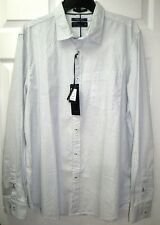 CACTUS Mens Long Sleeve SLIM FIT Button Down Shirt Diamond Dot White XL (India)