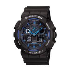 BOX SET Casio G-Shock GA100-1A2 Ana-Digi Speed Indicator Black Dial Men's Watch