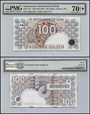Netherlands 100 Gulden, 1992, P-101, PMG 70