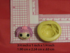 Doll Character Silicone Push Mold for Resin Clay Candy Food Safe 64 Bookscraping