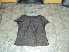 BNWT M&Co Ladies Lace Lined Top, Size 14