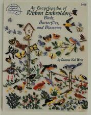 Modern PB Book Encyclopedia of Ribbon EMBROIDERY Birds Butterflies Blossoms 3408
