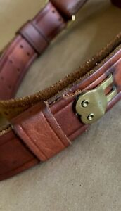 """VINTAGE LEATHER RIFLE SLING, BRASS, SPRINGFIELD 1903/M1907 """"OLYMPIAN 205"""""""