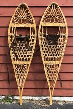 Vintage LL BEAN Freeport Maine Wooden Snowshoes Log Cabin Decor Display 12x43