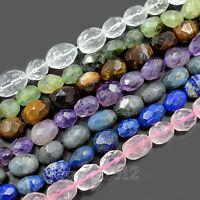 """Natural Faceted Gemstones Barrel Nugget Freeform Spacer Loose Beads 8"""" 10mm-15mm"""